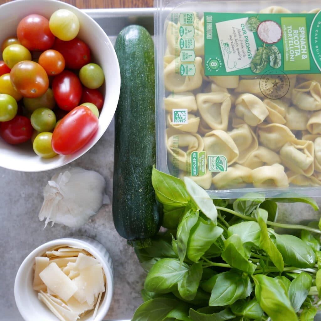 summer tortellini salad ingredients