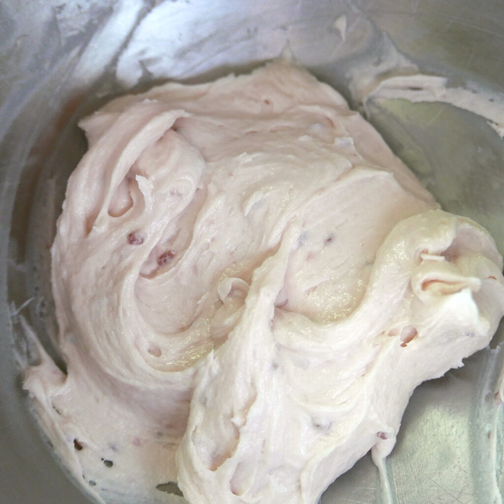 frosting in a mixing bowl
