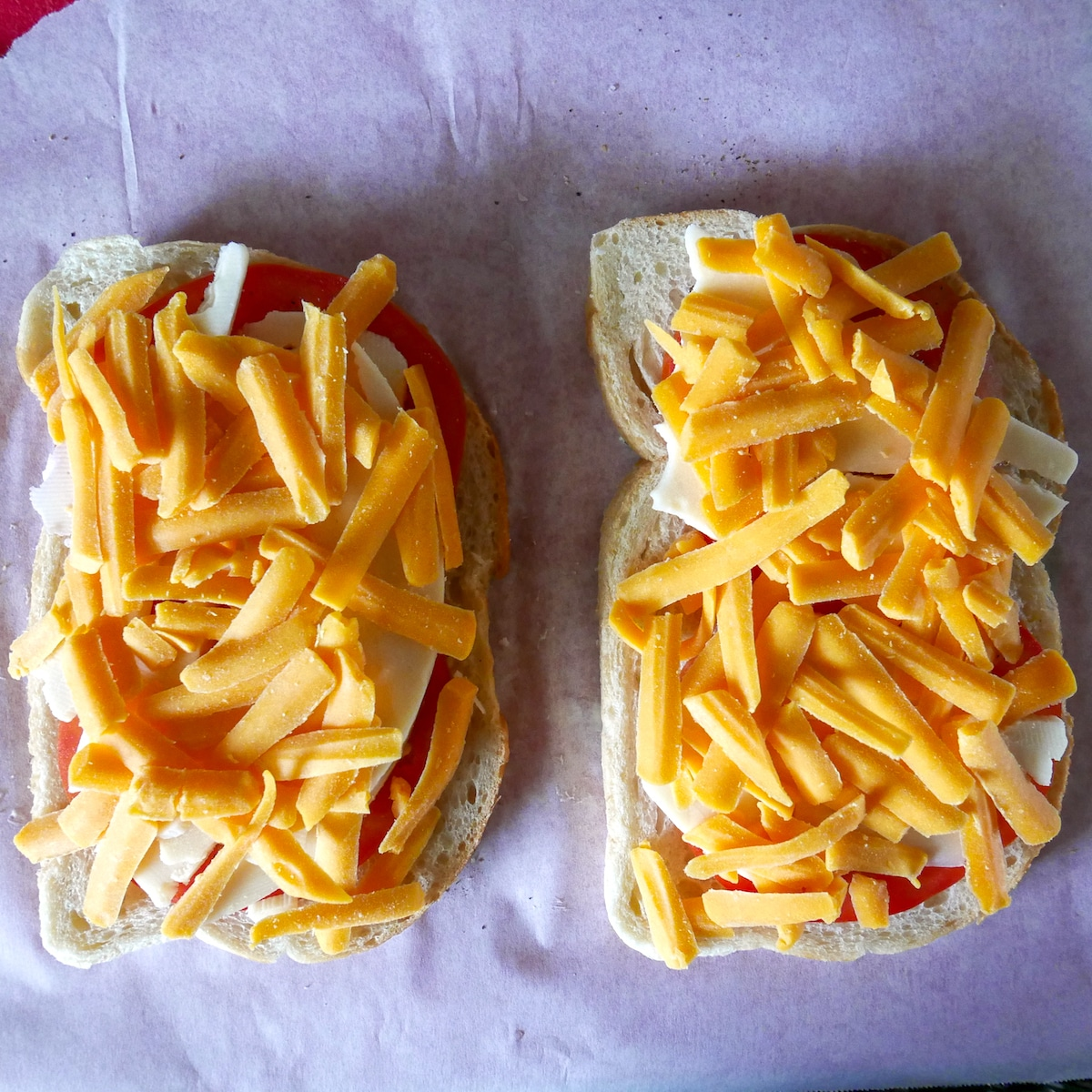 cheddar cheese on sourdough