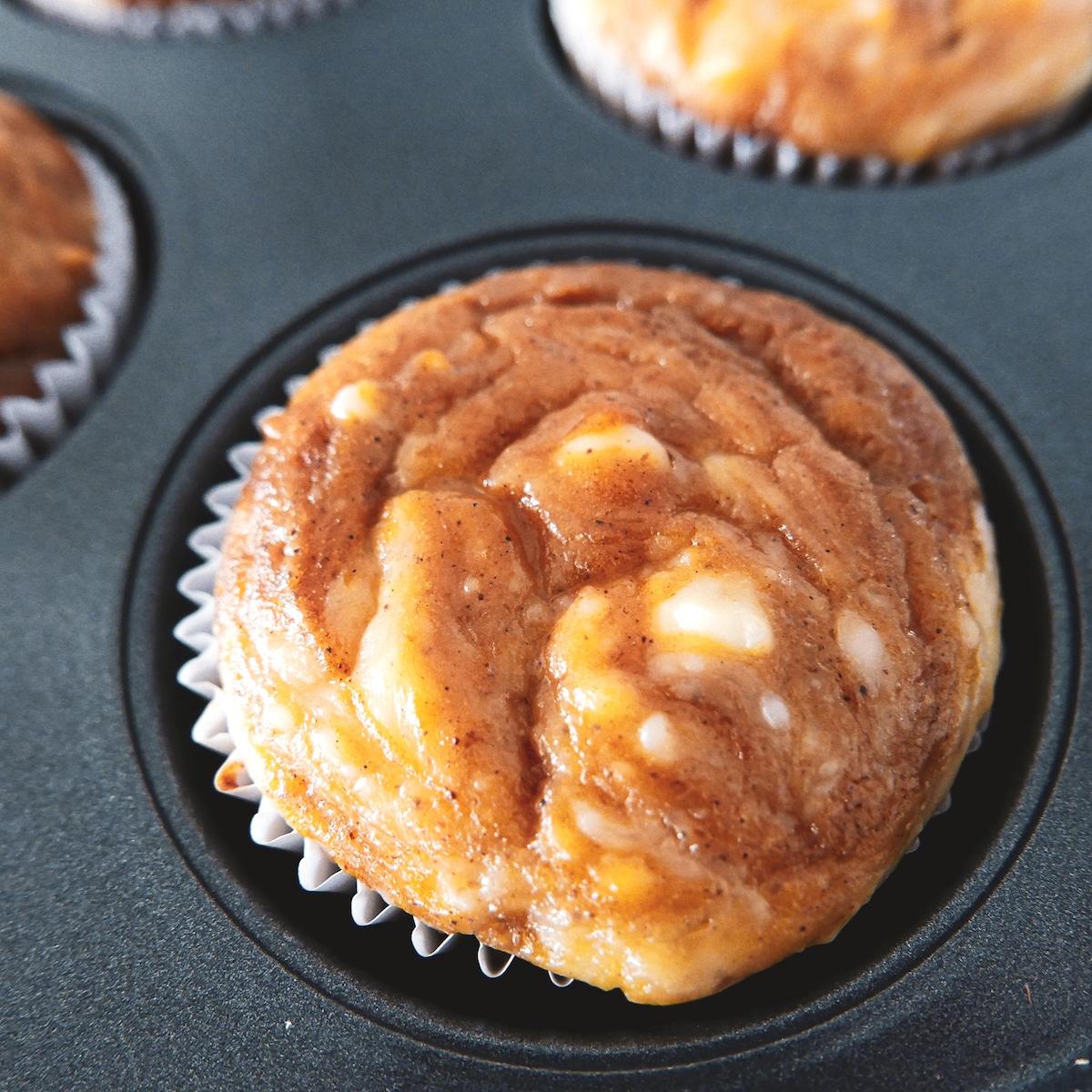 pumpkin muffin in tin